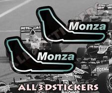 2 x Adesivi Resinati 3D Circuito Monza 6,5x3,5 cm