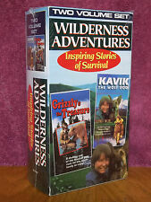 Wilderness Adventures: Kavik the Wolf Dog + Grizzly & the Treasure VHS VIDEO NEW
