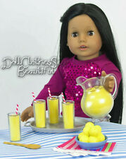 "FOR American Girl Dolls Lemonade Set 9 Piece works for 18"" Doll Food Accessories"