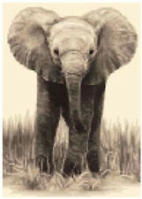 ELEPHANT CALF complete counted cross stitch kit - all materials included