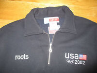 2002 U.S. OLYMPIC TEAM Roots Embroidered1/4 Zippered (MED) Jacket
