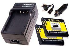 AKKU Ladegerät und 2 * Akku Batterie Accu für  Ricoh CX3 / CX4 / CX6 / PX