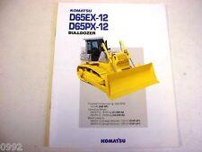 Komatsu D65Ex-12 D65Px-12 Crawler Dozer Color Brochure
