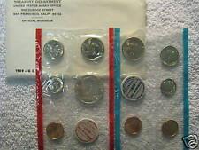 1969 US MINT-P&D UNCIRCULATED 10 COIN SET