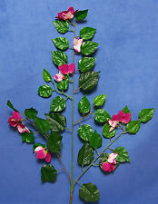 "Six Quality 27"" Fuchsia Pink Bougainvillea Artificial Faux Silk Flower Spray"