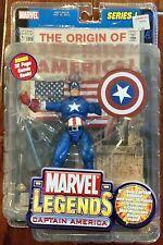 Marvel Legends Series 1 Captain America With Origins Comic Book- Unopened
