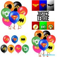 Set Of 10 Justice League Latex Party Balloons . Superhero Party Balloons