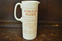 Vintage RARE Colour HORLICKS Mixer Ceramic Jug - 20cm Tall