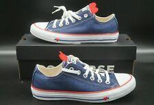 Converse Chuck Taylor All Star low 163308 azul rojo jeans corazón señora 38 39 40 41