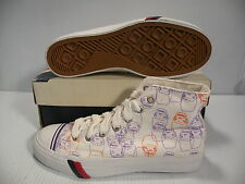 PRO-KEDS ROYAL HI HKG DIVISION II LE MEN SHOES WHITE PRINT MK06014 SIZE 11.5 NEW