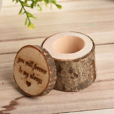 Retro Forever Shabby Chic Rustic Wedding Ring Pillow Bearer Box Wooden Decor NEW