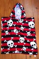 Skull And Crossbones Hooded Childs Towel Smock Poncho Kids Childrens