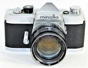 Minolta SR-1 Film SLR Camera Early Production W/Auto Rokkor-PF 1:1.4 58mm Lens