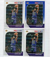 (4 LOT) 2019-20 LeBron James Panini NBA Hoops Blue #87 Lakers Card
