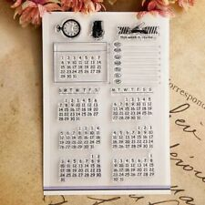 Transparent Perpetual Calendar Stamps Silicon Rubber Scrapbook Card Paper Design
