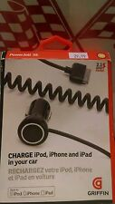 Griffin PowerJolt SE GC23090 Auto Adapter CHARGE ipod, iphone and ipad in car