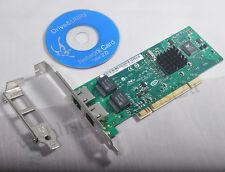 PCI 32bit 2 Ports Gigabit Ethernet 8492MT Intel 82546 RJ45 Server Network Card