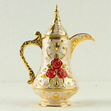 Chinese Exquisite Alloy Toothpick Holders Teapot shape Statue Carved flowers 002