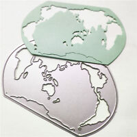World Map Metal Cutting Dies Stencils for DIY Scrapbooking Album Cards Decor LS