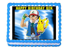Pokemon edible cake image cake topper decoration