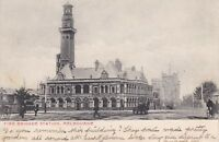 V80) Victoria 1905 postcard of Fire Brigade Station, Melbourne to South Africa