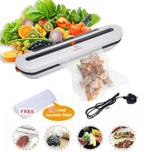 Portable Commercial Food Vacuum Sealer Machine Kitchen Food Saver With 10 Bag UK