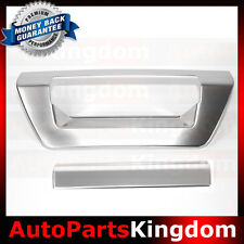 15-17 FORD F150 PRE-PAINTED Ingot Silver Tailgate Door Handle Covers Trim 2016