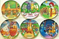 "COMPLETE SET of 6 McDonald's RONALD MCDONALD & Friends 9.5"" Plates - BRAND NEW!!"