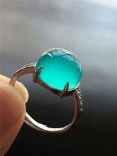 Natural Ice Amazonite Green Gemstone Beads One ring AAAA