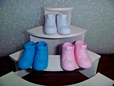 Barbie Shoes -3 Pair For Flat Footed Poseable Dolls 3 Colors & 3 Styles 3-13