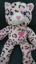 Build A Bear Pink Cat Leopard Cheetah Sassy Plush Kitty Stuffed Animal BABW 18""