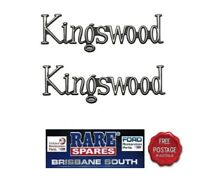 PAIR (2) HOLDEN HQ HJ GUARD BOOT TAILGATE KINGSWOOD BADGE