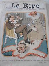Caricature 1900 de Faivre  La Peau de ma Belle-Mère moins cher que peau de Tigre