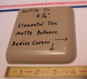 """1 pc. *Brown -Elemental Tan *Matte Radius Corner Bullnose Ceramic Tile 4-1/4"""""""