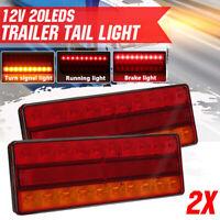 2X LED Trailer Tail Light Turn Signal Running Brake Lamp Bar Truck Caravan UTE