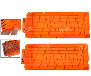 2pcs Orange Replacement Ammo Clip Magazine for Nerf N-Strike Elite Toy Gun