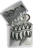Zippo 28969 Dragon Teeth Brushed Chrome 2015/2016 Choice Catalog Lighter NEW