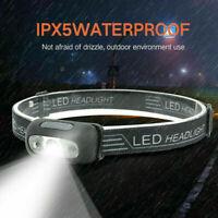 LED USB Rechargeable Headlamp Fish Bright Waterproof Head Torch Headlight NEW