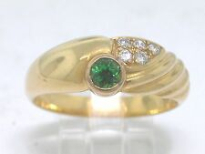 Tsavorit Ring 750 Gelbgold 18Kt Gold natürlicher Tsavorit   5 Brillanten