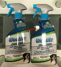 (2-Pack) Woolite Pet &Stain Odor Permanent Remover + Sanitize Carpet Upholstery