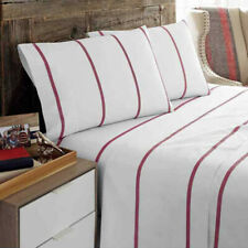 New Tommy Hilfiger Sutton Stripe Two Pillowcases White/Red Size Standard,King