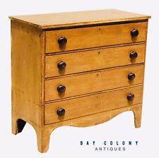 19Th C Antique Country Primitive Pine Hepplewhite Dresser / Chest