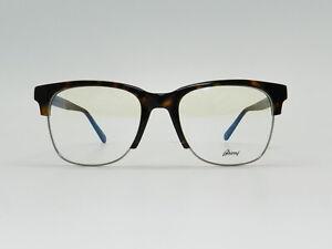 Authentic BRIONI EYEWEAR Rectangular Metal Acetate eyeglass frame BR0051O 54-20