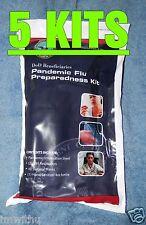 5 Family Flu Pandemic Kits US DOD Issue Survival Prepper SHTF Avian Virus kit