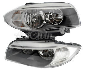 BMW 1 Series E82 LCI E88 LCI Halogen Headlight Set Right & Left Side OEM NEW