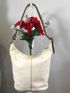 COACH Bleeker Off White Bucket Duffle Convertible Shoulder Bag #11422
