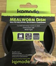 KOMODO PLASTIC REPTILE GECKO BEARDED DRAGON MEALWORM FEEDING FOOD DISH BOWL