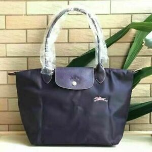 Original Auth Longchamp Le Pliage Nylon Tote Handbag Travel Bag Large and Medium