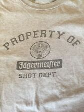 Jagermeister T Shirt Men's Grey Deer Head Logo Shot Dept 2XL See Measurements