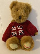 Harrods Knightsbridge Teddy Bear Plush British Union Jack Flag Red Sweater